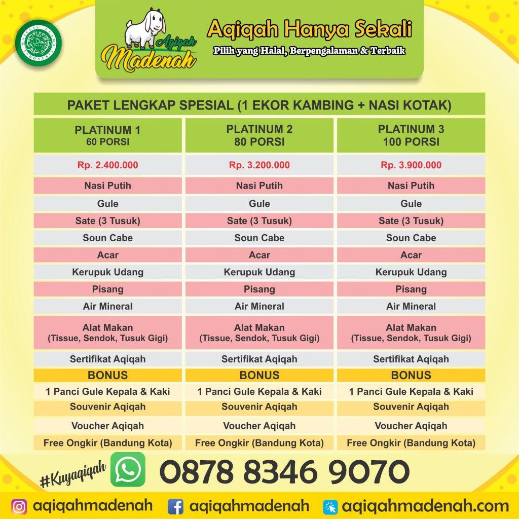 Daftar Paket Lengkap Aqiqah Cimeunyan Bandung